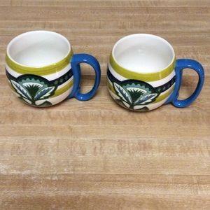 Set of 2 Anthropologie Mugs